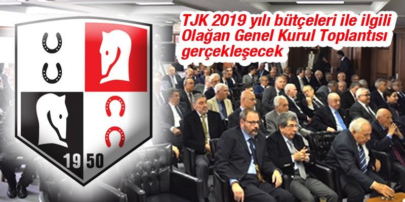 Türkiye Jokey Kulübü 2019 yılı bütçeleri ile ilgili