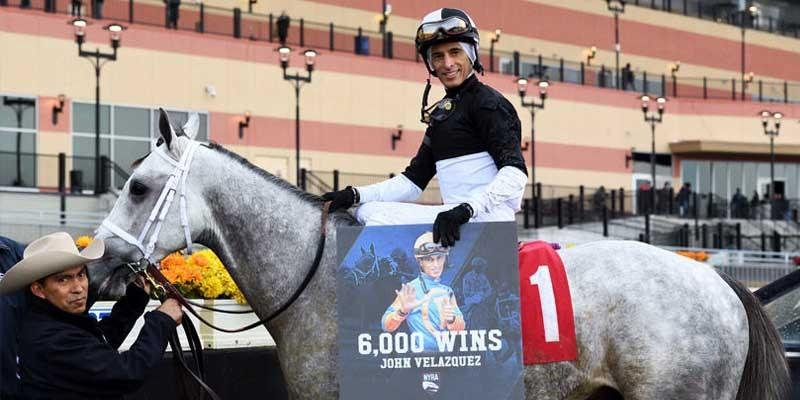 Amerika'nın altıbin yarış kazanan on sekizinci jokey John Velazquez oldu