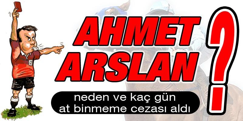Ciddiyesiz şekilde at binen Ahmet Arslan 60 gün at binmeme cezası aldı