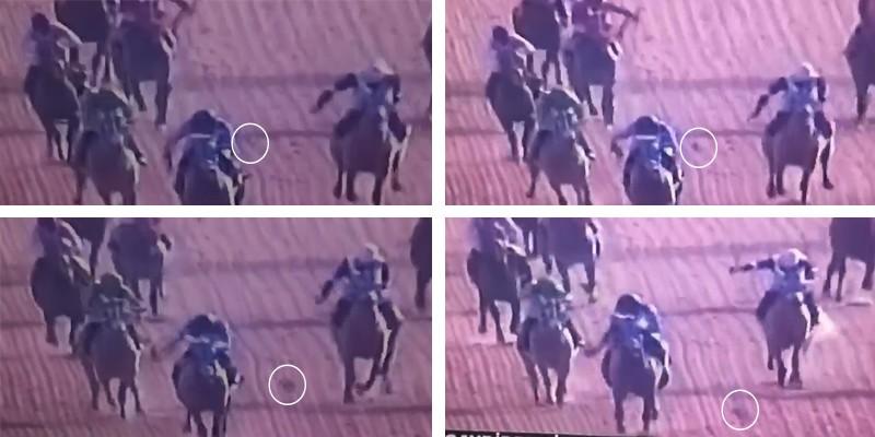 ÖZBİLDEN'in jokeyi Burhan KILINÇ, kamçısını düşürdü