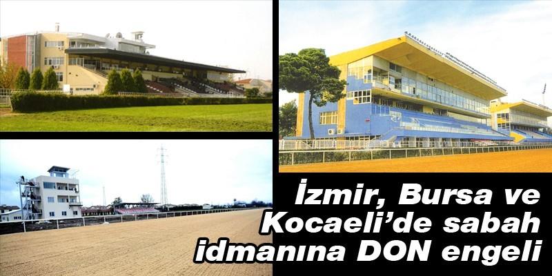 İzmir, Bursa ve Kocaeli'de sabah idmanına DON engeli