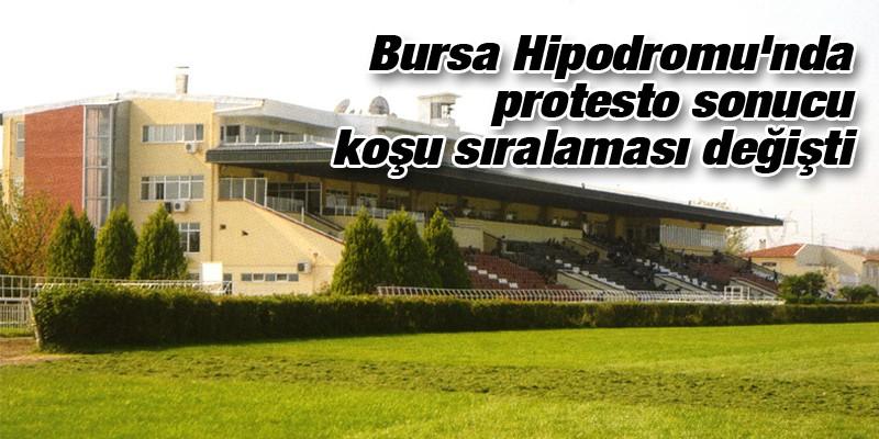 Bursa Hipodromu'nda protesto sonucu koşu sıralaması değişti