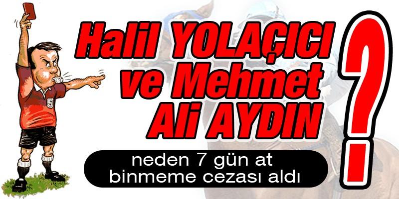 Halil Yolaçıcı ve Mehmet Ali Aydın neden 7 gün at binmeme cezası aldı