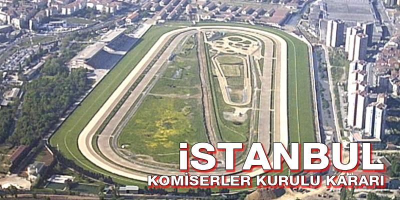 İstanbul'da çıkan atlar ve Jokey değişikliği.