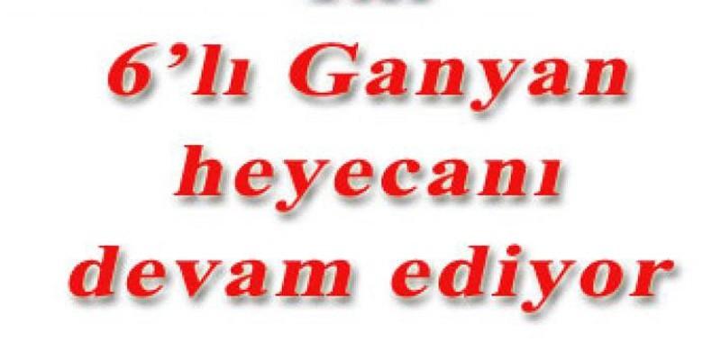 6'lı Ganyan kazandırmaya devam ediyor...  Şanlıurfa'da 6'lı Ganyan'ı 1 kişi bildi