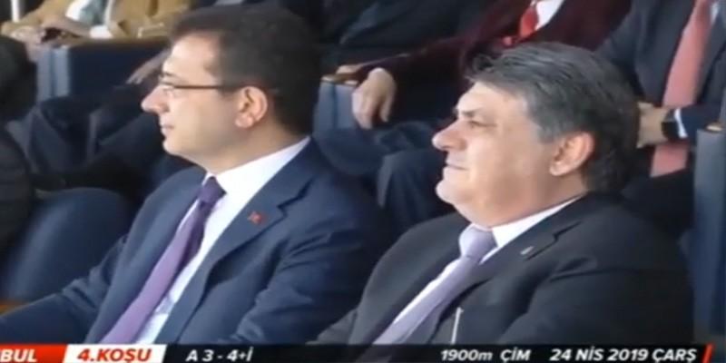 İstanbul Büyükşehir Belediye Başkanı Ekrem İmamoğlu ve TJK Başkanı Serdal Adalı