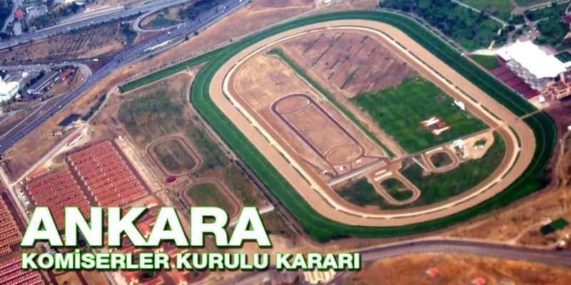 Ankara at yarışlarında  Jokey Müslüm Çelik 10 gün Danyal Kaya'ya 7 gün At binmeme cezası verildi. Ahmet Çelik, Gökhan Kocakaya'ya ihtar cezası verildi.