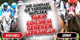 20 Aralık Cuma Günü İlk yarışlarında takip edilmesi gereken safkanlar.İzmir-Kocaeli