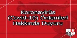 TJK  Koronavirüs (Covid-19) Önlemleri Hakkında Duyuru