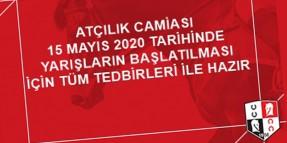 Atçılık Camiası 15 Mayıs 2020 Tarihinde Yarışların Başlatılması İçin Tüm Tedbirleri ile Hazır