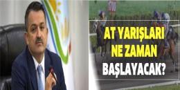 T.C Tarım ve Orman Bakanı Bakir Pakdemirli canlı yayında At Yarışları ne zaman başlıyacağını, Atsahipleri, Jokeyler, için ne dedi