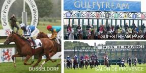 Cumartesi Düsseldorf'daki yarışlar ile başlayacak program Salon De Provence ve ardından Gulfstream Park ile devam edecek
