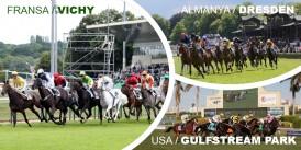 22 Mayıs Cuma günü Fransa VICHY, Almanya DRESDEN ve Amerika GULFSTREAM PARK Hipodromlarındaki yarışlarda toplamda 6 ALTILI GANYAN oynanacaktır