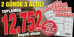 Haftaya 11.141,46 TL'lik Bursa 6'lısı ile başlayan GÜNCEL hız kesmeden yoluna devam ediyor. İŞTE İSPATI!!!