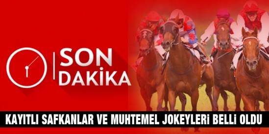 Cumartesi Ankara Koşusu ve Pazar Enternasyonel Yarış Festivali'ne kayıtlı safkanlar, muh.jokeyler, galoplar ve performanslar