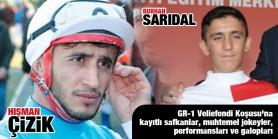 Hişman Çizik'in yeni rakibi Diyarbakır'dan Burhan Sarıdal oldu. GR-1 Veliefendi Koşusu'na kayıtlı safkanlar, muhtemel jokeyler, performansları ve galopları...