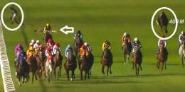 Veliefendi Hipodromu'nda jokeyler atlarla beraber yıkıldı son durumları belli oldu