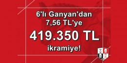İstanbul'da 2. 6'lı Ganyan'ı 7,56 TL'ye 419,350,91 TL verdi