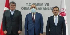 TJK Başkanı Serdal Adalı, Mustafa Aksu'ya teşekkür ziyaretinde bulundu