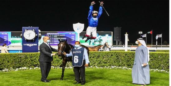 Frankie DETTORİ  Dubai Wold Cup karnavalı için özel olarak Meydan Hipodromuna gitti kazandı uçtu
