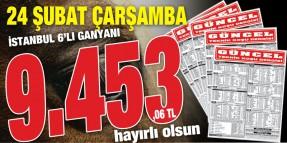 Pazartesi Bursa 6'lı Ganyanından sonra Çarşamba İstanbul'daki 9.453,06 TL'lik 6'lı ganyanı da bularak okuyucularına tekrar kazandırmanın keyfini yaşattı!!!