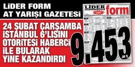 Gazeteniz LİDERFORM Çarşamba İstanbul 6'lısını doğru tahmin ederek okuyucularına 9.453,06 TL Kazandırdı