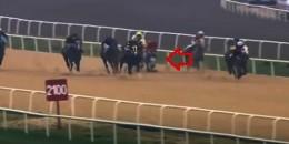 Bursa'da koşu içinde Attan kötü düştü  2.5 saat sonra safkana  binişi ile koşuyu kazandı
