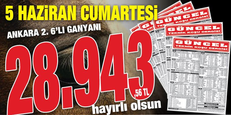 8 Sayfa At Yarışı Gazeteniz GÜNCEL 6'lı Ganyan, İkili, Çifte ve Bahis Oyunlarında da kazandırmaya devam ediyor. İşte İspatı!!!
