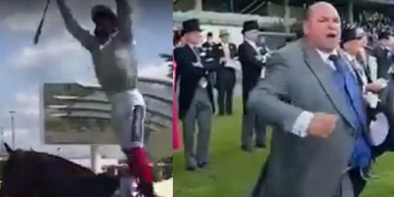 Royal Ascot'ta Frankie Dettori hayranlarının önünde uçan inişini yaptı,  At sahibinin kazanma sevinci
