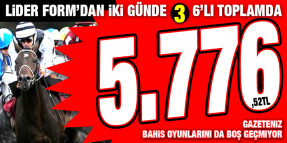 Cuma Bursa'da 1,823,74 TL veren 2. 6'lı dan sonra Cumartesi hem Ankara hem de İzmir'i boş geçmeyerek toplamda 5.776,52 TL kazandırdı. İşte İspatı!!!